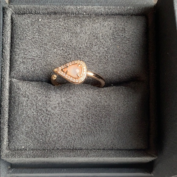 Meanie Auld Open Moonstone Ring